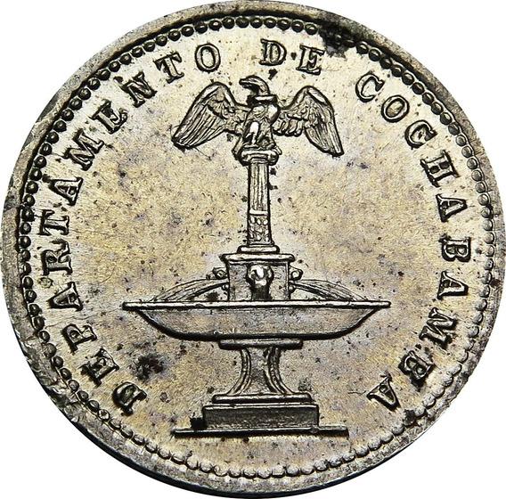 .: Bolivia 5 Centavos 1876 Cochabamba - Unc :.