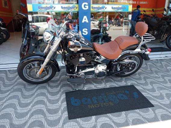 Harley Davidson Fat Boy Flstf 2017 Preta Impecável