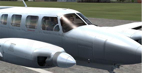 Aeronave Piper Navajo Para Simulador De Voo Fsx/p3d