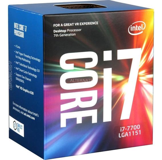 Kit Intel 7ª Geração I7 7700, 8gb Ddr4, Asus B250m-a
