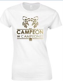 Blusa Conmemorativa Tigres Campeón De Campeones Blanca
