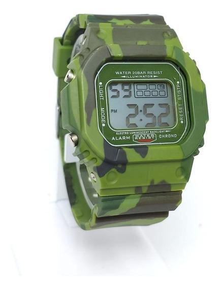 Reloj Tactico Militar Deportivo Digital Hombre Led Fecha Mi1