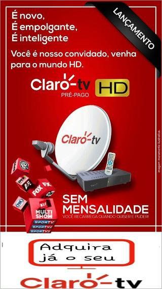Receptor Claro Tv Pré Pago +controle+pulha+cabo Rca+fonte