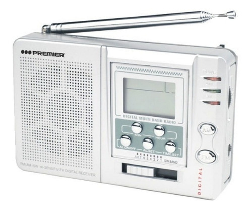 Radio Multibandas Premier  Am-fm-sw Funda Y Audífonos