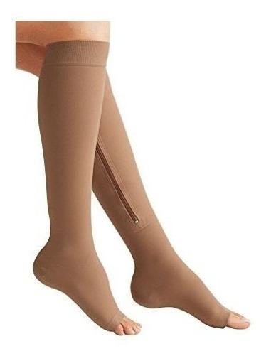 Medias De Compresión Calcetines Calcetas Con Cierre Unisex