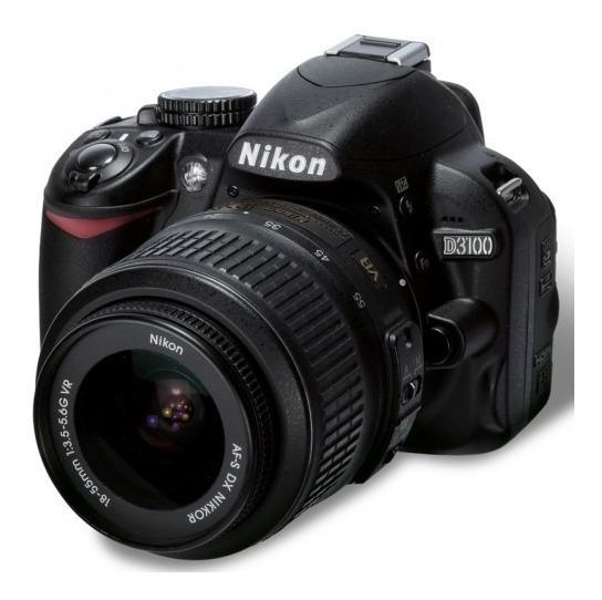 Câmera Nikon D3100 Seminova + Bolsa Bag + Lente + Alça + Carregador