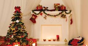 Fundo Fotográfico De Natal Com Elastano