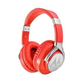Fone Estereo C Fio Original Moto Pulse Max Over Ear Vermelho