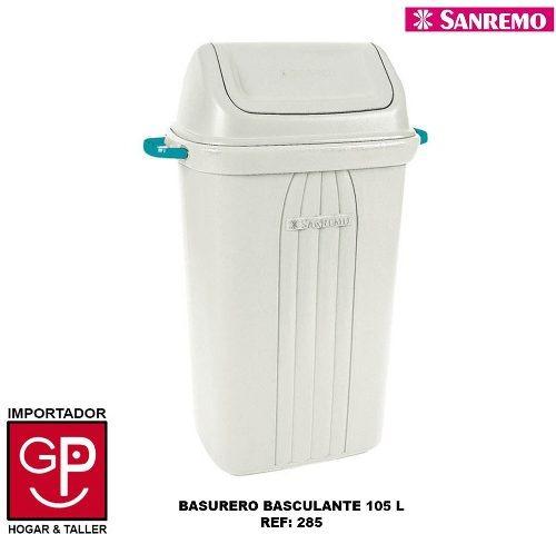 Basurero Basculante San Remo 105lts R285 G P