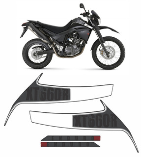 Kit Adesivos Yamaha Xt 660r 2010 À 2012 Preta 10327