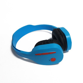 Fone De Ouvido Bluetooth Fm Azul Knup Kp440