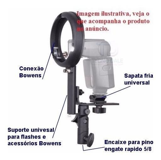 Suport Strobist Bowens Para Uso De Nikon Canon Godox Yangnuo