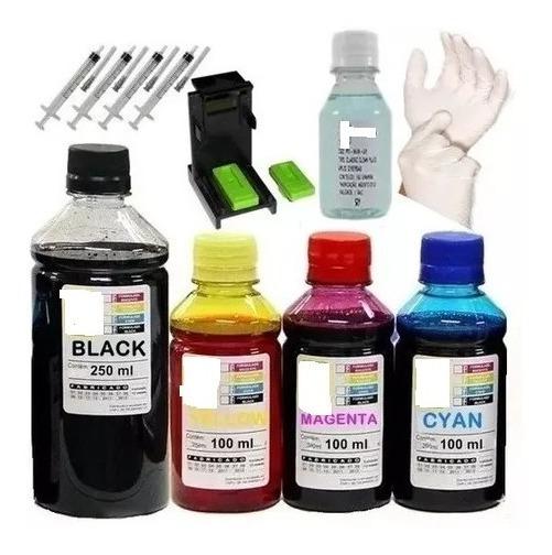 650ml Tinta P/ Bulk Ink Hp Impressora 1516 2546 3516 122 662