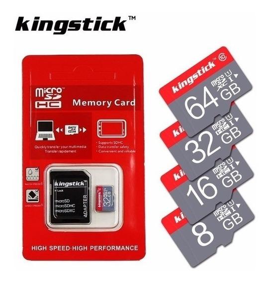 Cartão De Memória Kingstick 16gb Original + Adaptador Sd
