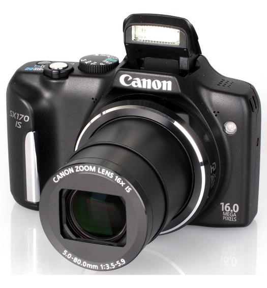 Câmera Canon Powershot Sx170 Is 16 Megapixels