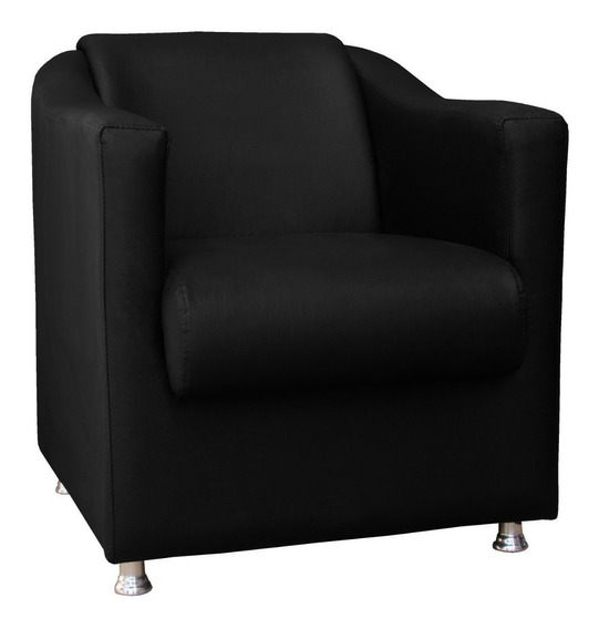 Poltrona Cadeira Tilla Para Recepção Escritorio Corino Suede