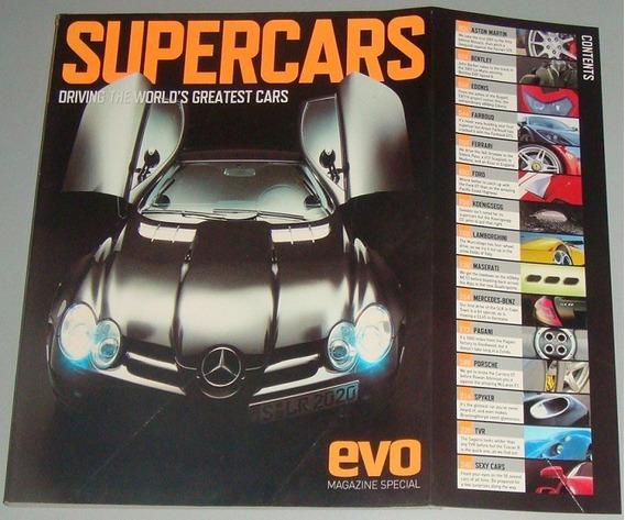 Carros - Livro Revista Supercars Driving World Greatest Cars