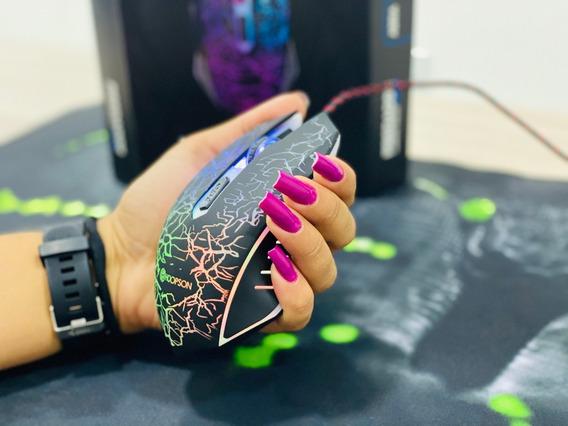 Mouse Gamer Hoopson Gt1000 Led 2400dpi