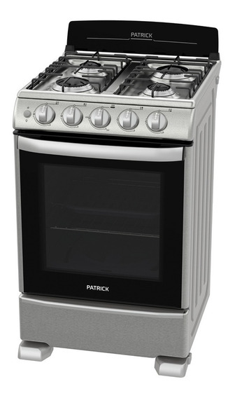 Cocina Patrick Cp6855i 55x87x68 Cm Inox Luz T. De Vidrio P.a