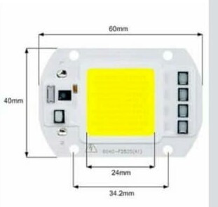 Led Chip Blanco 50w Smart Ic 110v 6000 - 6500k +pasta Termic