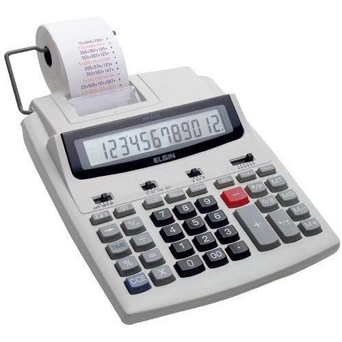 Calculadora Com Bobina 12 Digitos Elgin Mr 6125 Frete Gratis