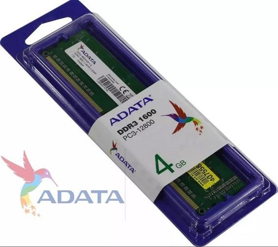 Memoria Ram Para Pc Dimm 4 Gb Ddr3 Adata 1600 Mhz