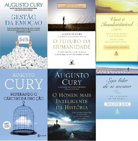 Coleção Augusto Cury 6 Livros Emoção + Inteligencia + Líder+