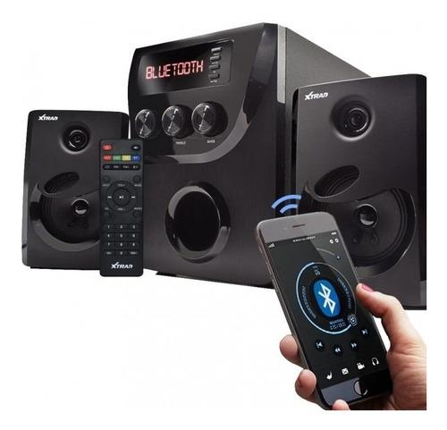 Caixa Som Bluetooth Potente Subwofer Pc,tv Smartphone Mp3 Fm