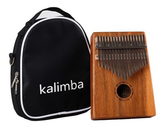 17 Teclas Kalimba Mbira Calimba Africano Polegar Piano Dedo
