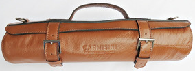 Estojo Briefcase Para Facas Culinária Gastronomia Luxo Couro