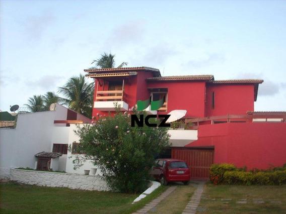 Mobiliada-casa Solta 4 Quartos + Dep, Piscina Privativa, Churrasqueira- Farol De Itapuã - Ca3074