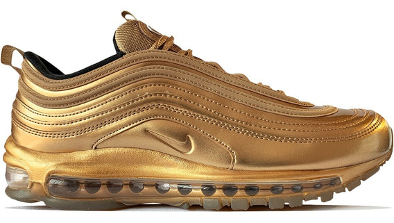 Tenis Nike Air Max 97 Qs Oro Olympic Gold Reflectivo 90 95