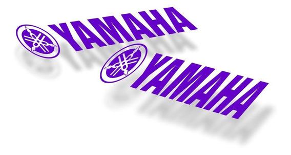 Kit 2 Adesivos Yamaha 25x5cm - Várias Cores - Alta Qualidade