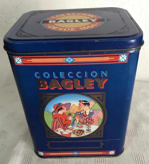 Antigua Lata Bagley - Imágenes-azul-vacía- Coleccion