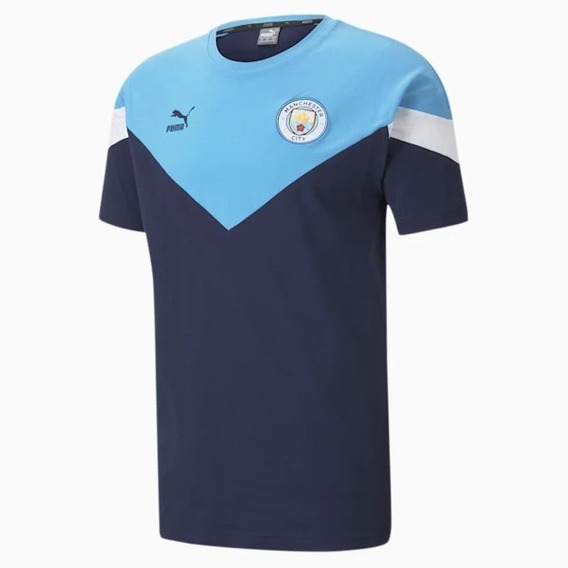 Camiseta Puma Manchester City Iconic Mcs Tee Adulto Asfl70