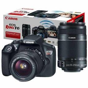 Câmera Canon T6 C/ 4 Lentes + Flash
