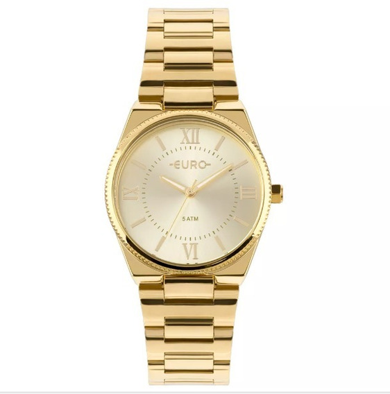 Relógio Euro Feminino Dourado Fashion Eu2035ypa/4d