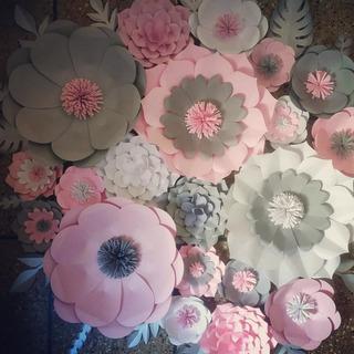 Flores Gigantes De Papel Combo Oferta Decoracion