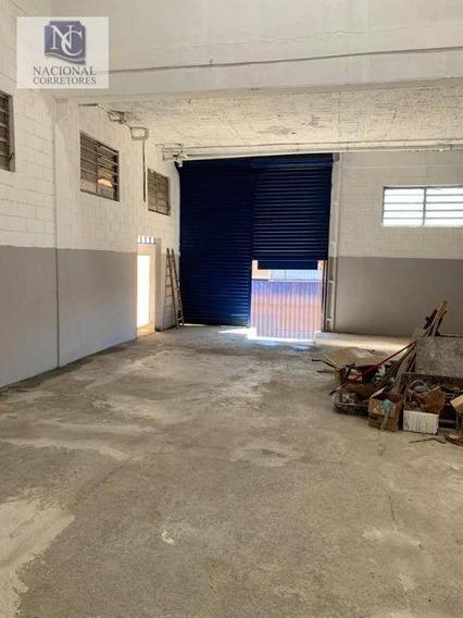 Galpão Para Alugar, 330 M² Por R$ 4.500/mês - Vila Nogueira - Diadema/sp - Ga0690