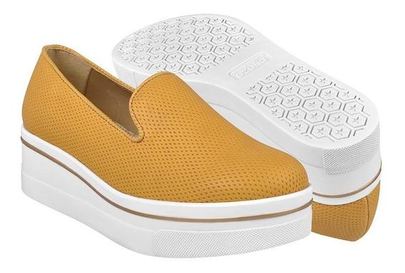 Zapatos Casuales Para Dama Capa De Ozono 371517-2 Mostaza