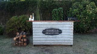 Mesa Cocina Parrilla Quincho Con Garrafa Anafe Funcionando