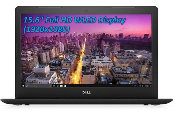 Notebook Dell Ryzen 5 2500u 16gb 512gb Ssd Placa De Vídeo Integrada Radeon Vega 8 15.6 Full Hd Antirreflexo Preto