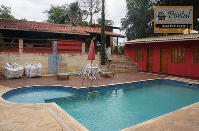 Chácara Com 3 Dormitórios À Venda, 1080 M² Por R$ 520.000 - Champs Privés - Campo Limpo Paulista/sp - Ch0139