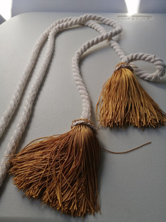 1 Par De Cuerdas Sujetadoras De Cortina Con Borla