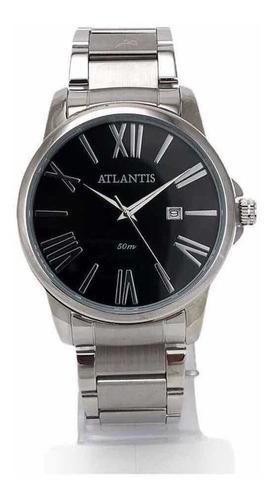 Relógio Atlantis Original Social Masculino Feminino Prata