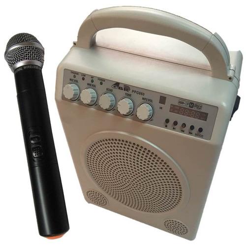 Bafle Portatil Bateria Microfono Inalambrico Mp3  Bluetooth Guia Turismo Profesional