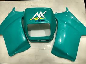 Carenagem Nx 150 Verde Claro Tanque + Farol Par Paramotos