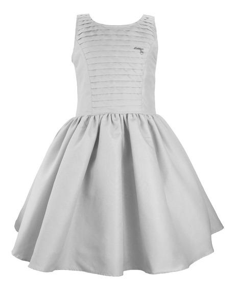 Vestido De Festa Juvenil Tam 6 Ao 12 Ano Novo Branco