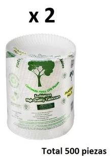 Plato Pastelero De Cartón Biodegradable [caja De 500 Piezas]