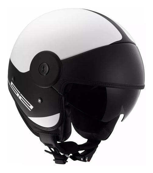 Casco Abierto Moto Ls2 597 Via Matt White Parasol Yuhmak